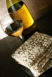 Wine and matzoh Royalty Free Stock Photo