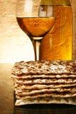 Wine and matzoh royalty free stock image