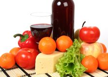 Wine and meal royalty free stock photos
