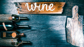 Wine menu black background Royalty Free Stock Photo