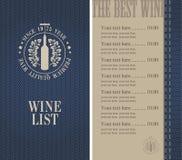 Wine menu Stock Images