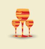 Wine menu card design background Royalty Free Stock Image
