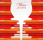 Wine menu card design background. Wine menu card design with glass background Royalty Free Stock Image