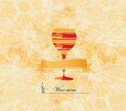 Wine menu card design background. Wine menu card design with glass background Stock Photography