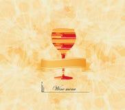 Wine menu card design background Stock Photography