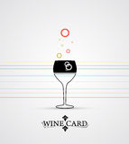 Wine menu card design background. Wine menu card design with glass background Royalty Free Stock Photo