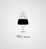 Wine menu card design background Royalty Free Stock Photography