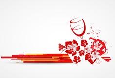 Wine menu card design background Royalty Free Stock Photos