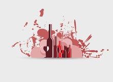 Wine menu card design background Stock Image