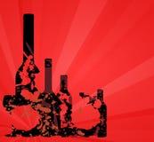 Wine menu card design background Stock Images