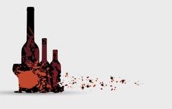 Wine menu card design background Royalty Free Stock Images
