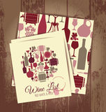 Wine menu card . Royalty Free Stock Photography