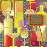 Wine menu Royalty Free Stock Image