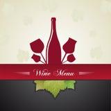Wine menu cover Stock Image