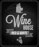 Wine menu design chalkboard background Stock Photos