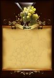 Wine menu design Royalty Free Stock Photography