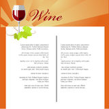 Wine Menu Stock Images