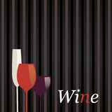 Wine Menu Royalty Free Stock Photography
