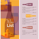 Wine menu list stencil print Stock Photo