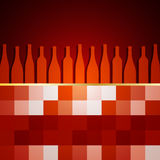 Wine menu presentation Royalty Free Stock Photos