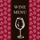 Wine menu. Retro card or flyer. Restaurant theme. Vector illustr Stock Image