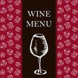 Wine menu. Retro card or flyer. Restaurant theme. Vector illustr Stock Image