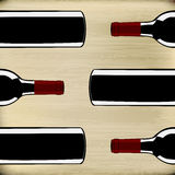 Wine Menu Template Stock Photography