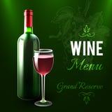Wine Menu Template Royalty Free Stock Photos