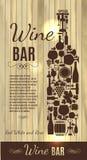 Wine menu on wood texture Royalty Free Stock Image