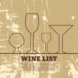Wine menu wooden  format eps 10 Stock Images