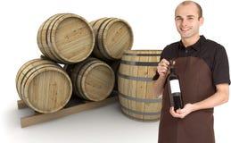 Wine merchant Stock Photos