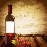 Wine Mock Up vector illustration
