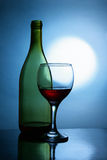 Wine and moon Royalty Free Stock Photography