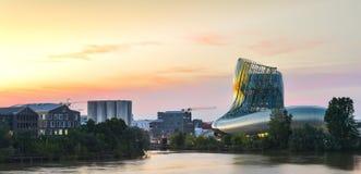 Wine museum of Bordeaux near Garonne river, France. Stock Photos