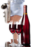Wine and music Royalty Free Stock Photo