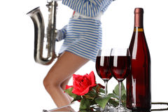 Wine and music Royalty Free Stock Images