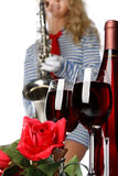 Wine and music Stock Photography