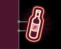 Wine neon sign Stock Photos