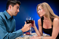 Wine and night Royalty Free Stock Photo