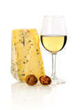 Wine, nuts and cheese Royalty Free Stock Image