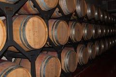 Wine oak barrels Royalty Free Stock Photos