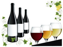 Wine objects Royalty Free Stock Photo