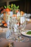 Wine- och champagneexponeringsglas Royaltyfri Bild