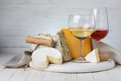Wine och ost Royaltyfria Foton