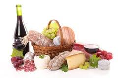 Wine och ost arkivfoto