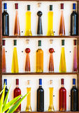 Wine and olive oil Stock Images
