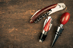 Wine opener set Royalty Free Stock Image