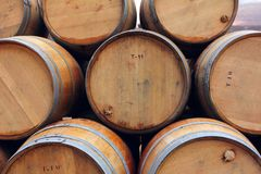 Free Wine Or Whisky Wooden Barrels Royalty Free Stock Image - 116861986