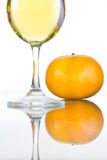 Wine with oranges Royalty Free Stock Images