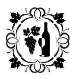 Wine ornament Royalty Free Stock Images
